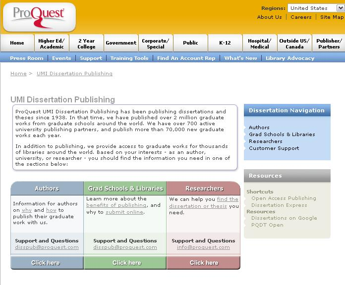 Proquest dissertations & theses database online